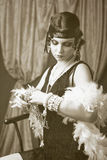 Retro flapper style Royalty Free Stock Images