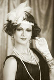 Retro flapper style Stock Photography