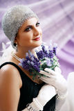 Retro flapper style Royalty Free Stock Image