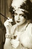 Retro flapper style Royalty Free Stock Photos