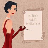 Retro flappper girl Royalty Free Stock Images