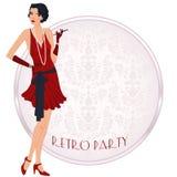Retro flappper girl Royalty Free Stock Photos