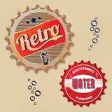Retro Flaschenkapsel Entwurf Stockbild