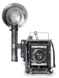 Retro Flash Camera front view Royalty Free Stock Photography