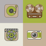 Retro flat arts icon Royalty Free Stock Images
