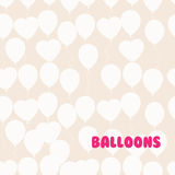 Retro flat balloons pattern. Great for Birthday, wedding, annive Royalty Free Stock Photography