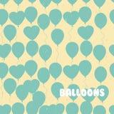 Retro flat balloons pattern. Great for Birthday, wedding, annive Stock Photos