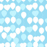 Retro flat balloons pattern. Great for Birthday, wedding, annive Royalty Free Stock Image