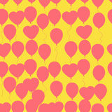Retro flat balloons pattern Stock Photos