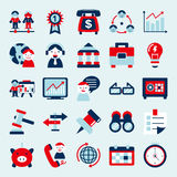 Retro flat business icon Stock Images