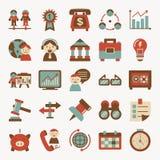 Retro flat business icon Stock Photos