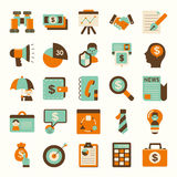 Retro flat business icon Stock Image