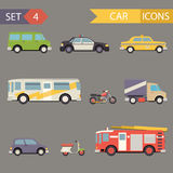 Retro Flat Car Icons Set vector Royalty Free Stock Photography