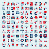 Retro flat communication icons set Royalty Free Stock Image