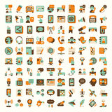 Retro flat communication icons set Royalty Free Stock Photography