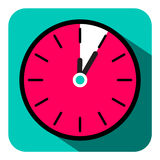 Retro Flat Design Clock - Five Minutes Stop Watch Royalty Free Stock Photography