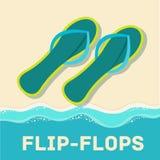 Retro flat flip-flop icon concept. vector Stock Photography