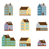 Retro Flat House Icons and Symbols set vector Royalty Free Stock Photo