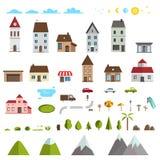 Retro Flat House Icons and Symbols set vector Royalty Free Stock Photos