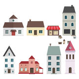Retro Flat House Icons and Symbols set vector Stock Photo