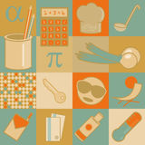 Retro flat icons Stock Images