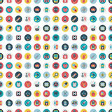 Retro flat Medical seamless pattern Stock Photos
