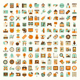 Retro flat network icon set Royalty Free Stock Photography