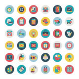 Retro flat  network icons vector collection Royalty Free Stock Images