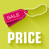 Retro flat price tag icon concept. vector Royalty Free Stock Image