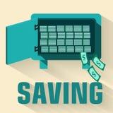 Retro flat saving icon concept. vector Stock Photography