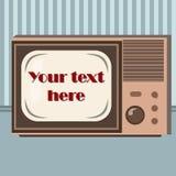 Retro flat televisor Royalty Free Stock Images