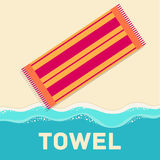 Retro flat towel concept. vector illustration Royalty Free Stock Image