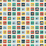 Retro flat transport seamless pattern Stock Photography