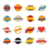 Retro flat vector banners template collection Royalty Free Stock Image