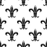 Retro fleur de lys seamless pattern Stock Photos