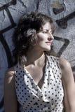 retro flicka Fotografering för Bildbyråer