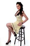 retro flickautvikningsbrud Arkivbild