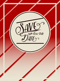 Retro flier or brochure save the date. Royalty Free Stock Image