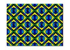 Retro- Fliesen-Muster spornte multi Farbe der islamischen Geometrie an Kunst der Papierfalte, Origami Moderne Blumenbeschaffenhei Lizenzfreie Stockfotos
