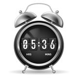Retro flip alarm clock. Stock Images