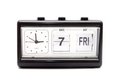 Retro flipping clock isolated Stock Images