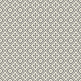 Retro Floor Tiles patern. Floor tiles - seamless vintage pattern with quatrefoils. Seamless vector background. Plain colors - easy to recolor Royalty Free Stock Image