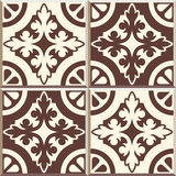 Retro Floor Tiles patern, set of four patterns. Set of four Floor tiles - seamless vintage pattern with cement tiles. Seamless vector background. Vector Stock Images
