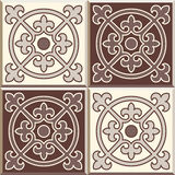 Retro Floor Tiles patern, set of four patterns Stock Photos
