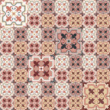Retro Floor Tiles pattern. Floor tiles - seamless vintage pattern with quatrefoils.  Patchwork style pattern. Seamless vector background. Plain colors - easy to Stock Photos