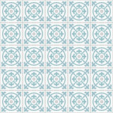 Retro Floor Tiles pattern. Floor tiles - seamless vintage pattern with quatrefoils. Seamless vector background. Plain colors - easy to recolor Royalty Free Stock Photos