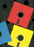 Retro Floppy. Floppy old format 5,25 closeup Stock Photo