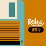 Retro floppy  poster isolated icon design Stock Photography