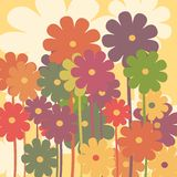 Retro floral Stock Images