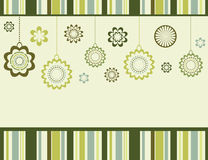 Retro floral background Stock Photo